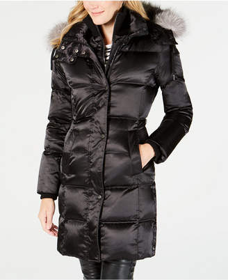 Andrew Marc Real Fur Hooded Down Coat