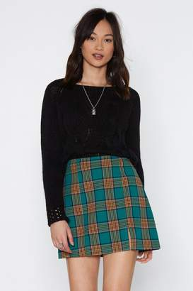 Nasty Gal Cable Knit Wide Neck Jumper