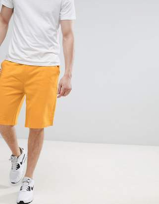Asos Design DESIGN Jersey Oversized Shorts In Yellow
