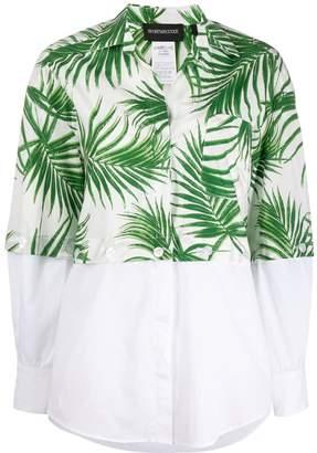 Sportmax Code Teheran botanical shirt with removable panel