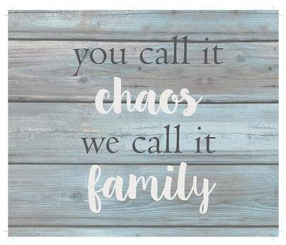 You Call It Chaos Wooden Wall Art - 12