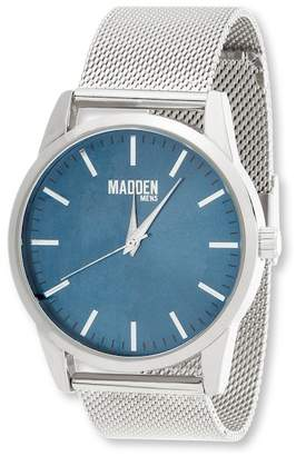 Steve Madden Steve Men's Steel Mesh Band Minimalist Watch, 43mm