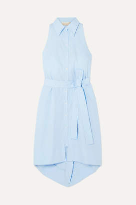Antonio Berardi Cotton-poplin Dress - Light blue