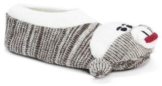 Muk Luks Sock Monkey Slipper - Brown Tweed