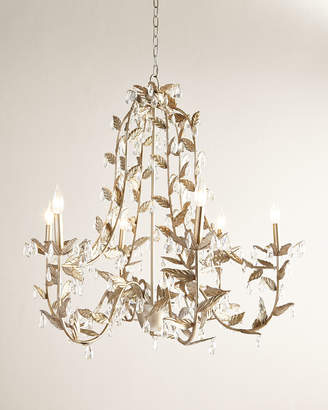 Horchow Cascading Leaves 6-Light Champagne Chandelier