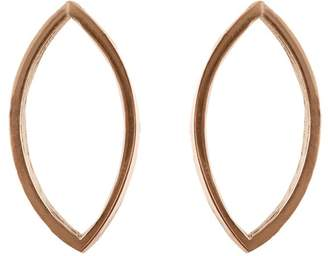 Edge Only - Marquise Slice Earrings in 14ct Gold