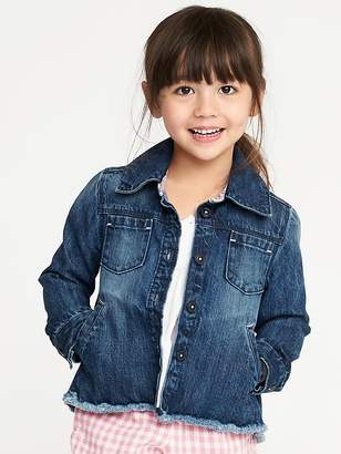 Old Navy Raw-Hem Denim Chore Jacket for Toddler Girls