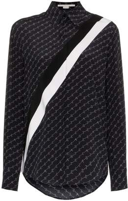 Stella McCartney Logo Striped Silk Shirt