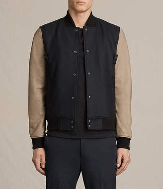 AllSaints Murray Leather Bomber Jacket