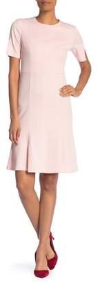 Donna Morgan Solid Textured Knit Midi Dress
