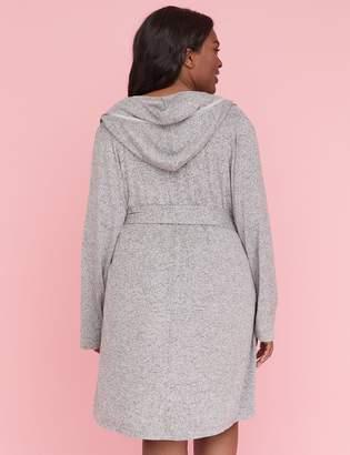 Lane Bryant Hooded Brushed Jersey Robe