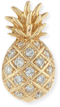 Sydney Evan Pave Diamond Pineapple Single Stud Earring