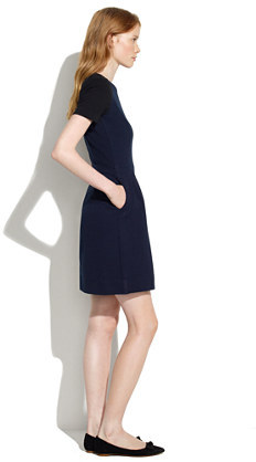 Madewell Gallerist Ponte Dress in Colorblock