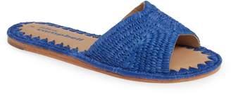 Jeffrey Campbell Dane Raffia Slide Sandal