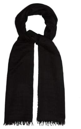 Co Begg & Staffa Cashmere And Silk Blend Scarf - Mens - Black