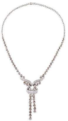 Necklace 18k WG Champagne Diamond Waterfall Necklace