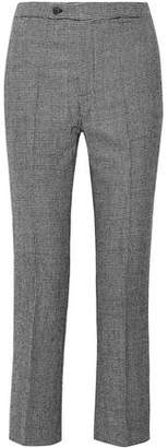R 13 Houndstooth Wool Straight-Leg Pants