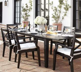 Pottery Barn Hampstead Painted Extending Table & Chair Dining Set, Black
