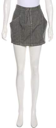 See by Chloe Stripe Mini Skirt