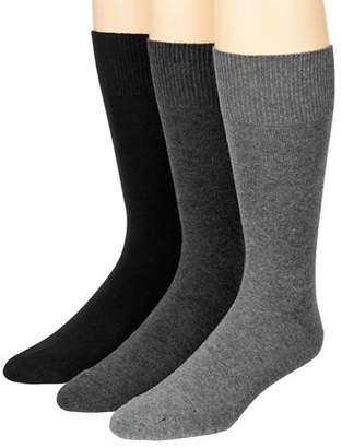 MCGREGOR Mens Three-Pack Flat Knit XL Crew Socks