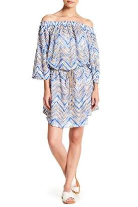 Jordan Taylor Off-the-Shoulder Knit Cover-Up (Plus Size)