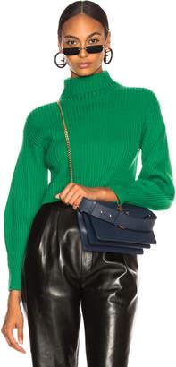 Tibi Merino Rib Structured Pullover