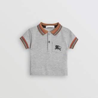Burberry Icon Stripe Detail Cotton Polo Shirt