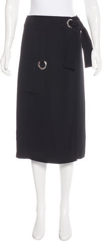 A.L.C.A.L.C. Grommet-Accented Knee-Length Skirt