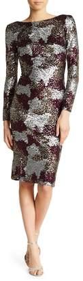 Dress the Population Brenna Long Sleeve Scoop Back Dress