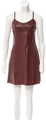 Alexander Wang Leather Mini Dress