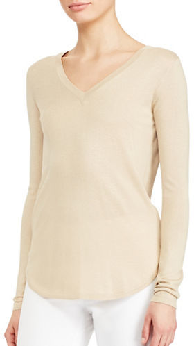 Lauren Ralph LaurenLauren Ralph Lauren Silk-Blend V-Neck Sweater