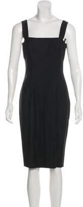 John Galliano Wool-Blend Midi Dress