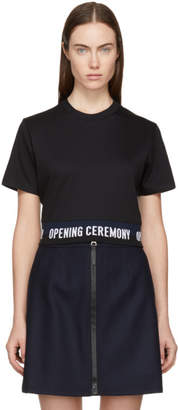 Opening Ceremony Black Cropped Elastic Logo T-Shirt