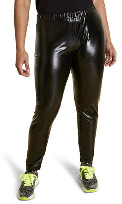 Marina Rinaldi Occupare Laminated Leggings