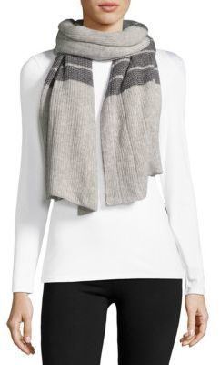 Ribbed Cashmere Scarf $237 thestylecure.com