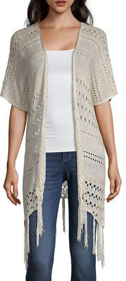 Artesia Womens Elbow Sleeve Open Front Cardigan