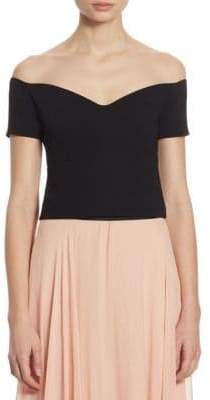 Birch Off-The-Shoulder Cropped Top