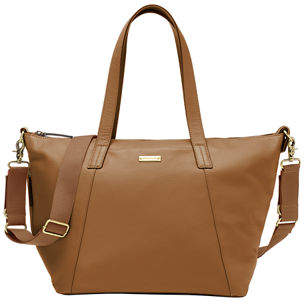 Storksak Noa Leather Diaper Tote Bag