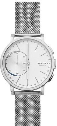 Skagen Hagen Connected Mesh Strap Smart Watch, 42Mm $205 thestylecure.com