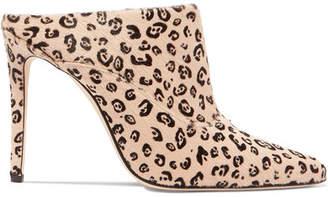 Altuzarra Davidson Leopard-print Calf Hair Mules - Neutral