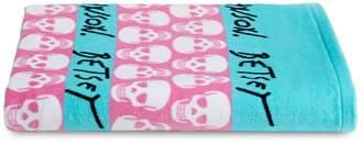 Betsey Johnson Skull Stripes Beach Towel