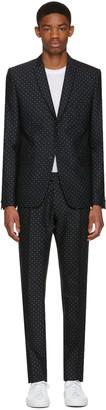 Philippe Dubuc Black Classic Polka Dot Suit $1,175 thestylecure.com