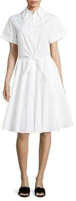 Diane von Furstenberg Tie-Front Cotton Shirtdress