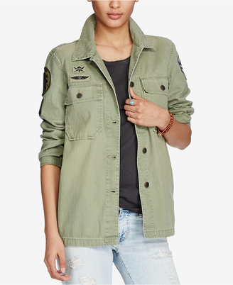 Denim & Supply Ralph Lauren Herringbone Cotton Jacket $225 thestylecure.com
