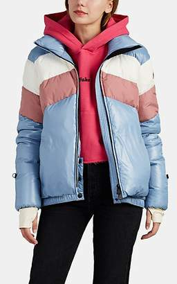 Moncler Women's Lamar Striped Down Puffer Coat