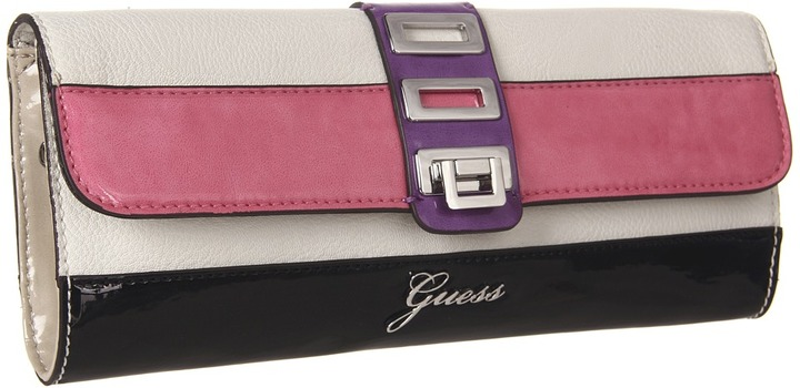 GUESS Astrella Flap (White Multi) - Bags and Luggage