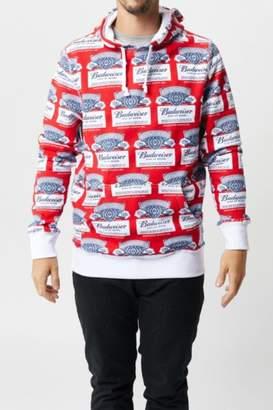 HUF x Budweiser Label Pullover Hoodie