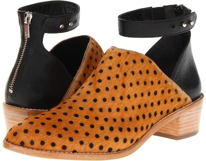 Loeffler Randall Franca (Camel Dot/Black (Printed Haircalf/Aviator Calf)) - Footwear