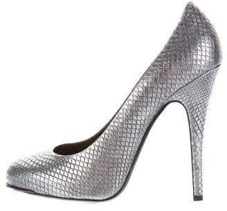 Devi Kroell Embossed Metallic Pumps