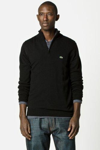 Lacoste Lambswool Jersey Half Zip Sweater
